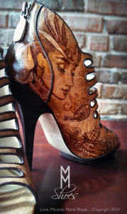 Hand Painted Steampunk Shoes - Wedding Shoes 3 -Miranda Marie Storer