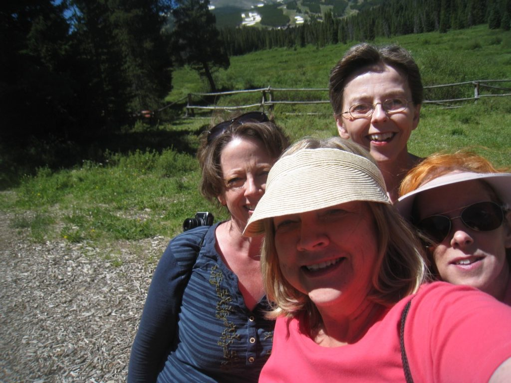 Debbie's selfie of us on Cucumber Gulch trail