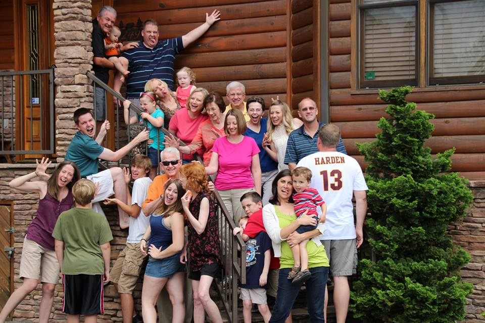 Silly family photo by Aaron